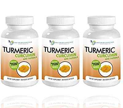 Turmeric Curcumin - 180 Veggie Caps - Most powerful Turmeric Supplement - by Doctor Recommended