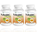 Turmeric Curcumin-2250mg/d-180 Veggie Caps-95% Curcuminoids with Black Pepper Extract (Piperine) - 750mg capsules - 100% ORGANIC Turmeric - Most powerful Turmeric Supplement - with Triphala -(3 Pack)