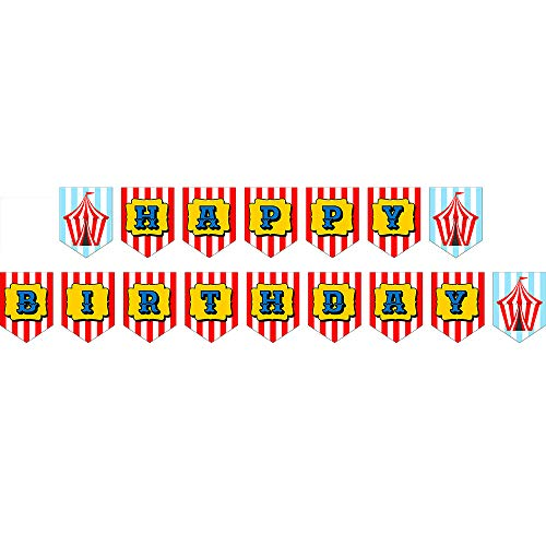 Circus Jointed Banners, Circus Party Supplies, Circus Birthday Banner, Party Decorations, Hanging Room Decorations]()