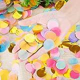 Outus 1 Inch Multicolor Round Tissue