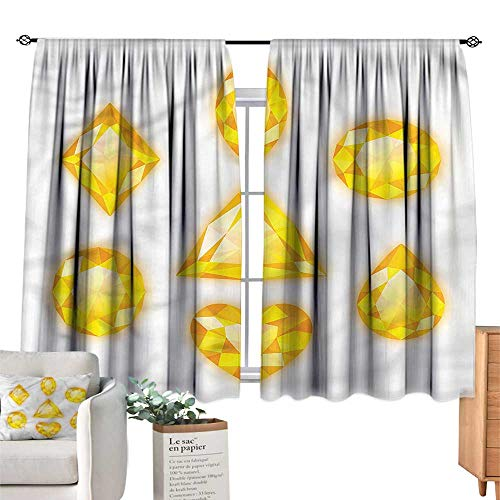 Lace Curtain Marquise - Mannwarehouse Soft Curtain Diamonds Marquise Hearts and Pear W63 xL72 Suitable for Bedroom,Living,Room,Study,etc.