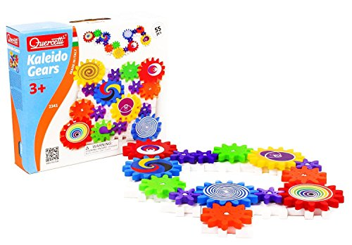 quercetti-kaleido-gears-55-piece-building-set-with-3-different-sized-gears-turn-the-crank-and-create