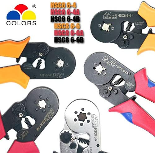No-branded Crimper Crimping Tool Hsc8 6-4 6-6 Crimper Kablo Kesici Pliers Cable Crimp Tools Plier Wire Cutter Alicate Crimpador Alicates MDYHJDHYQ (Color : HSC8 6 6B) Hsc8 6 4