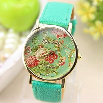 Amazon.com: New Fashion GENEVA Rose Flower Watch For Women Quartz ...