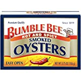 Bumble Bee Hot & Spicy Smoked Oysters, 3.638 Ounce (Pack of 12)