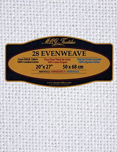 "UPC 716448282723, Evenweave Fabric 28 Count 20""X27""-White"