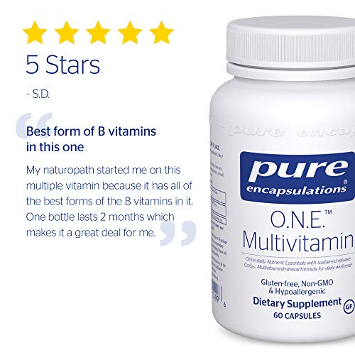 Pure Encapsulations - O.N.E. Multivitamin - Once Daily Nutrient Essentials with Metafolin L-5-MTHF and Sustained Release CoQ10 - Hypoallergenic Dietary Supplement - 60 Capsules by Pure Encapsulations (Image #8)