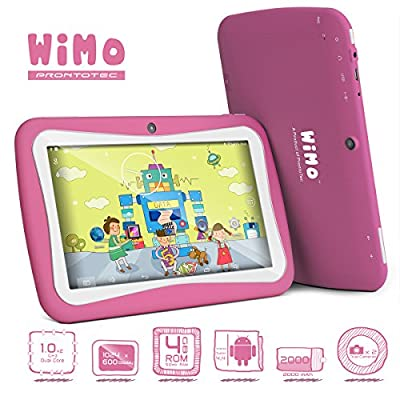 ProntoTec 7 inch WiMo C72R Android Tablet PC for Kids,Android 4.4 KitKat OS, Dual Core RK3026 Cortex A9 CPU Dual Cameras 4GB, Wi-Fi (Pink) - Birthday gift for your love!