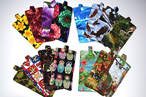 Quilted Eyeglass Case,Your Choice:Eagles,Flowers,Garden Quilts,Ivy,Daffodil,Matryoshka,Dolphin,Eyeglass Pouch,Snap Closure Pencil - Stores Eagle Eyes Sunglasses