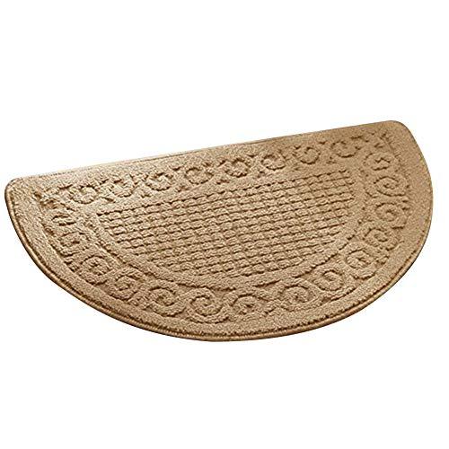 Olpchee Half Round Non-Slip Kitchen Bedroom Toilet Doormat Floor Rug Mat Keeps your Floors Clean Decorative Design (Large, - Beaulieu Carpet