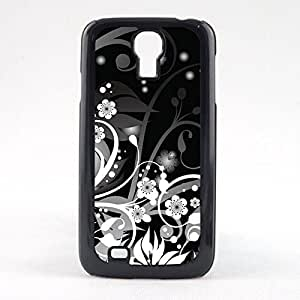 Case Fun Case Fun Black and White Flowers and Swirls Snap-on Hard Back Case Cover for Samsun Galaxy S4 Mini (I9190)