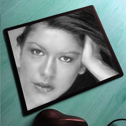 Seasons CATHERINE ZETA JONES - Original Art Mouse Mat #js009