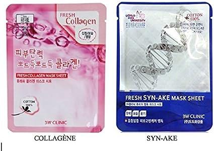 Pack de 2 máscaras hipoalergénico en tela 100% algodón Facial para todo tipo de piel – cosméticos, etnia coreana (Pack de 2 máscaras AU CHOIX): Amazon.es: Belleza