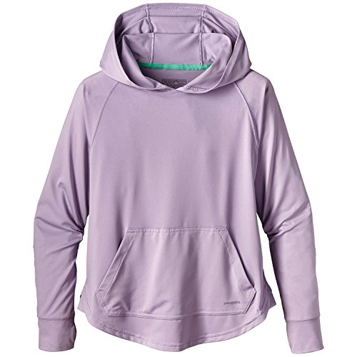 Patagonia Silkweight Girls' Capilene Sun Hoody Purple X-Large by Patagonia