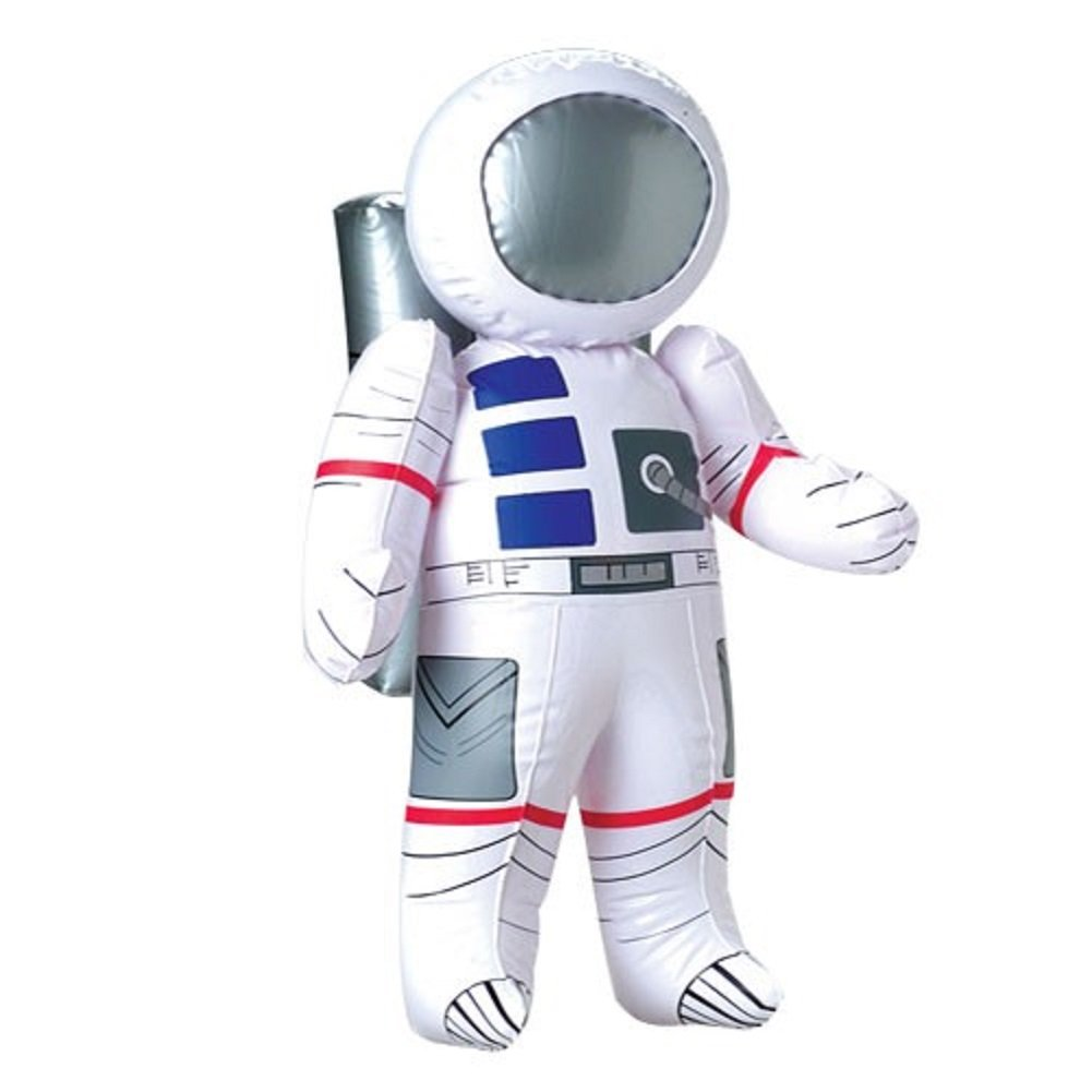 Novelty Treasures Fun Space Trio Inflate Set Astronaut Space Shuttle and Globe