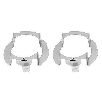 1 Par H7 LED Adaptador de la Linterna Bulbo Soporte de la Base Bulbo Clips Holder Socket Retainer