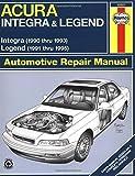 Acura Integra '90'93 & Legend '91'95 (Haynes Repair Manuals) 1st edition by Haynes, John (1999) Paperback