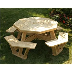 "52"" Treated Pine Octagon Walk-In Picnic Table"