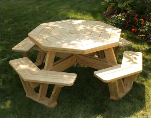 "62"" Treated Pine Octagon Walk-In Picnic Table"