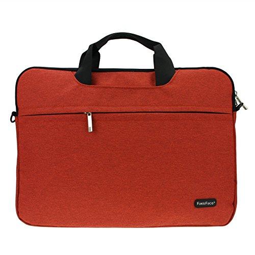 Notebooktasche Laptoptasche Aktentasche Wasserfest Canvas-Gewebe Laptop Schutzhülle Mit Griff & Reißverschluss-Tasche für 14-15.6 Zoll Laptop Notebook Rot cttZXqBe