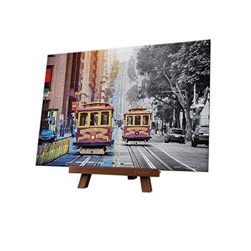 Pintoo - P1299 - Cable Cars on California Street, San Francisco - 368 Piece Mini Plastic -