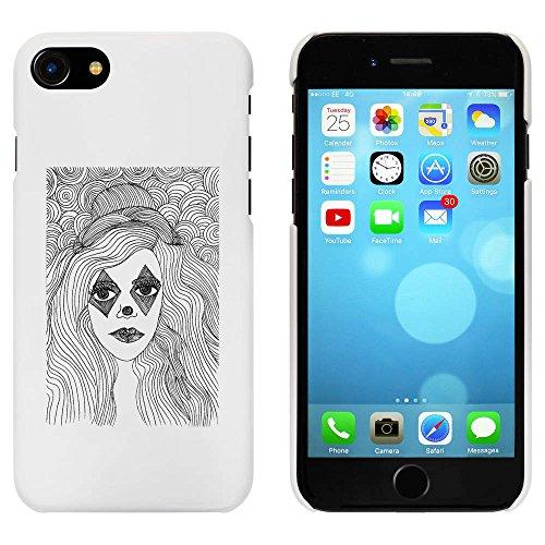 Blanc 'Fille avec Maquillage' étui / housse pour iPhone 7 (MC00057648)