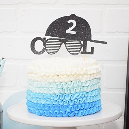 Cake Cool (Two Cool Cake Topper 2nd Birthday Decoration 2 Legit to Quit)
