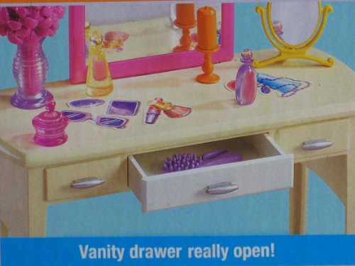 Barbie Living In Style Bedroom Playset W Armoire Vanity