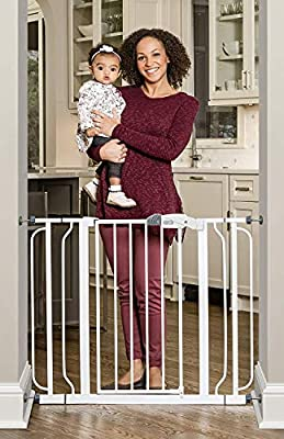 Regalo Easy Step Extra Wide Baby Gate Includes 4-Inch and 4-Inch Extension Kits 4 Pack of Pressure Mounts Kit and 4 Pack of Wall Mount Kit 1165 W DS