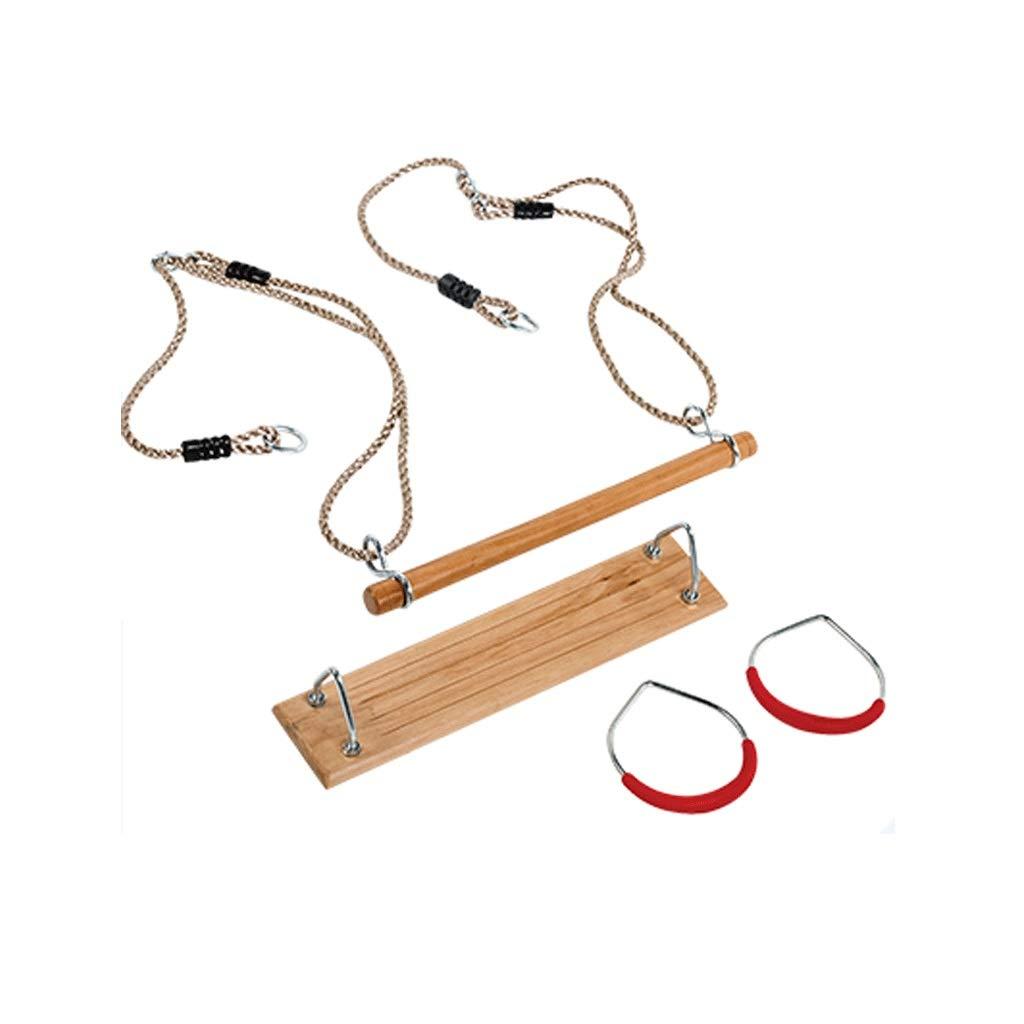 LIGONG 子供用 ブランコ シート ストレート 子供 ベビー スイング シンプル 実用的 アウトドア インドア ホーム スイング セット 木製 3サイズ B07RFH8H31
