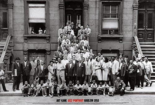 (24x35) Art Kane A Great Day in Harlem Jazz Portrait 1958 Photo Poster Print ()