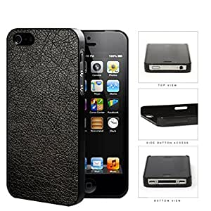 Genuine Leather Design Look Hard Plastic Snap On Cell Phone Case Apple iPhone 4 4s