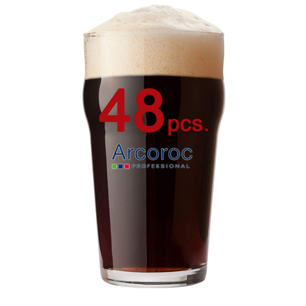 Arcoroc - Vasos de cerveza (570 ml, con certificado CE, 570 ml, 48 unidades)