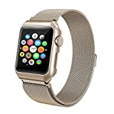 For Apple Watch Band 38mm 42mm Milanese Loop Stainless Steel Replacement Band with Metal protective Case Band for Apple Watch Series 3 Series 2 Series 1 Sport & Edition