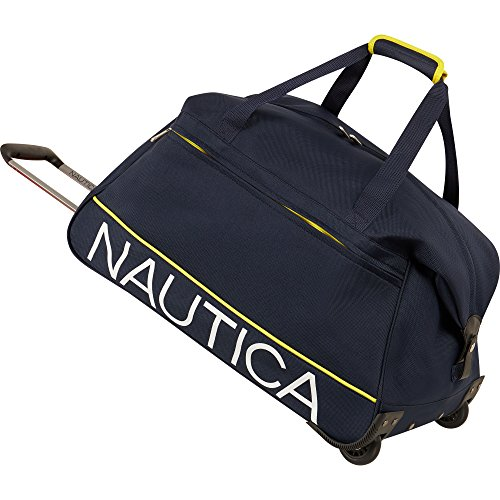 Nautica Wheeled Travel Duffle Bag Weekend Duffel, Navy, One Size