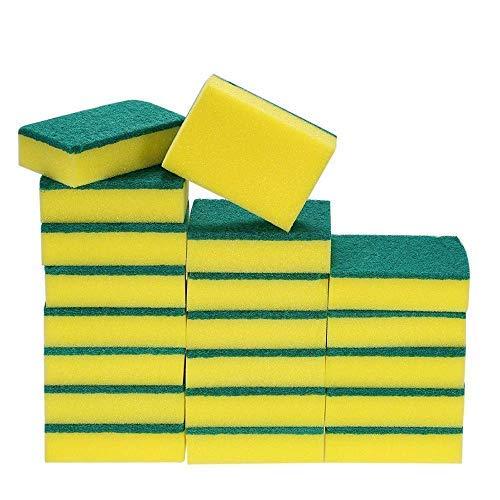 Esonmus 20 Pack Multi-Use Heavy Duty Scrub Sponge Extra Thin Magic Cleaning Sponges Eraser Sponge For Kitchen Bathroom Furniture Leather Car & - Sponges Mini