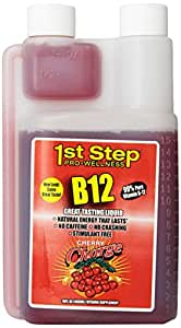 High Performance Fitness INC. 1st Step Liquid B-12, Cherry Charge, 16-fluid ounces