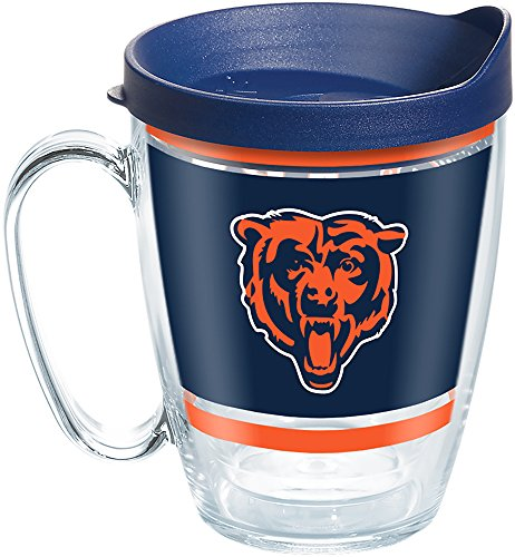 Tervis 1257312 NFL Chicago Bears Legend Tumbler with Wrap and Navy Lid 16oz Mug, Clear ()