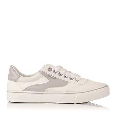 Zapatillas de Lona Mustang Taylor 69370 Blanco: Amazon.es: Zapatos y complementos