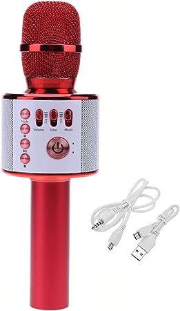RENJUN Micrófono de Karaoke inalámbrico Altavoz Micrófono de ...