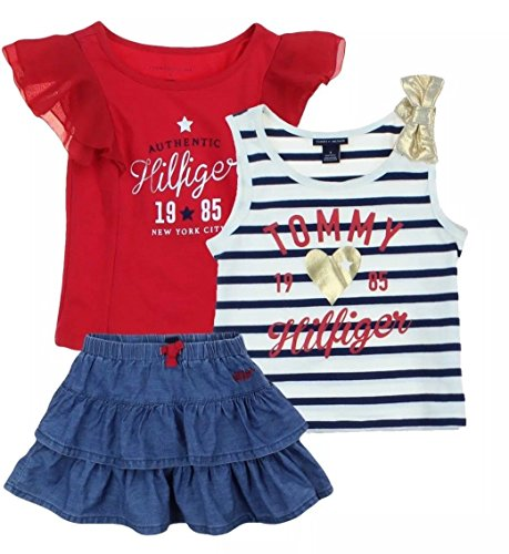 13a4b44e7 Tommy Hilfiger Girls 3 Piece Set- Skort, Tee and Tank Size 6 - Buy Online  in Oman. | Apparel Products in Oman - See Prices, Reviews and Free Delivery  in ...