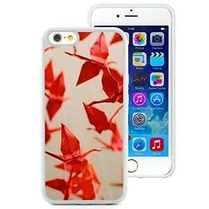 "Beautiful iPhone 6 4.7"" TPU Cover Case ,Red Paper Cranes White iPhone 6 4.7"" TPU Phone Case Unique And Durable Designed Screen Case"