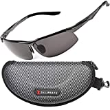 Polarised Sunglasses for Men & Women by ZILLERATE, High Quality Mens & Womens Fashion Glasses, for Driving Cycling Fishing Golf & All Sports, Anti Glare UV Protection Light Metal Frame (GUNMETAL GREY)