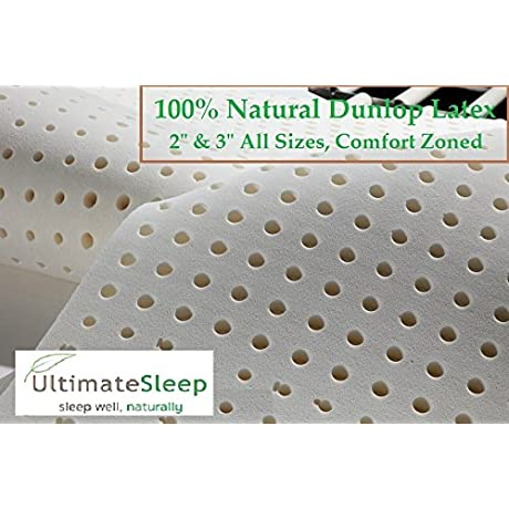 Twin 2 Inch Latex Mattress Pad Topper 100 Natural Ultimate Sleep Latex FIRM Density