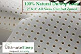 "Latex Mattress Pad Topper Cal King 4"" Medium Firm Density, 100% Natural Latex"