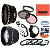 Deluxe Lens Kit For Canon Digital EOS Rebel SL1, T1i, T2i, T3, T3i, T4i, T5, T5i EOS60D, EOS70D, 50D, 40D, 30D, EOS 5D, EOS5D Mark III, EOS6D, EOS7D, EOS7D Mark II, EOS-M Digital SLR Cameras Which Has Any Of These Canon Lenses 18-55mm IS II, 18-250mm, 55-200mm, 55-250mm, 70-300mm f/4.5-5.6, 75-300mm, 100-300mm, EF 24mm f/2.8, 28mm f/1.8, 28mm f/2.8, 50mm f/1.4, 85mm f/1.8, EF 100mm f/2 , EF 100mm f/2.8, MP-E 65mm f/2.8, TS-E 90mm f/2.8