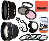 Deluxe Lens Kit For Canon Digital EOS Rebel SL1, T1i, T2i, T3, T3i, T4i, T5, T5i EOS60D, EOS70D, 50D, 40D, 30D, EOS 5D, EOS5D Mark III, EOS6D, EOS7D, EOS7D Mark II, EOS-M Digital SLR Cameras Which Has Any Of These Canon Lenses 18-55mm IS II, 18-250mm, 55-200mm, 55-250mm, 70-300mm f/4.5-5.6, 75-300mm, 100-300mm, EF 24mm f/2.8, 28mm f/1.8, 28mm f/2.8, 50mm f/1.4, 85mm f/1.8, EF 100mm f/2 , EF 100mm