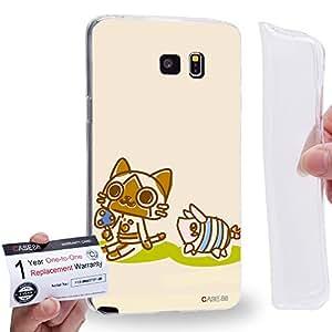 Case88 [Samsung Galaxy Note 5] Gel TPU Carcasa/Funda & Tarjeta de garantía - Monster Hunter Poka Poka Airou Giri-AiruG Pugi 1148