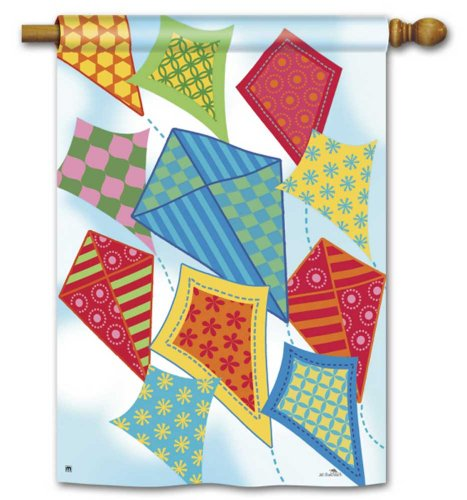 - Flying Kites House Flag - 28