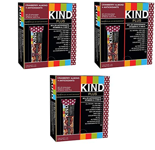 KIND Bars, Cranberry Almond plus Antioxidants with Macadamia Nuts, Gluten Free, Low Sugar, 1.4oz, 36 Bars by KIND (Image #1)